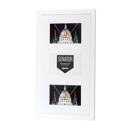 SNF1015W-3: Senator White Triple Photo Frame|Kenro Ireland