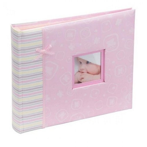 Scr201pk Happy Baby Girl Scrapbook Album Pink 48 6x4 Kenro Ireland