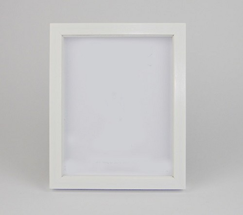 Brushed White Resin Shadow Box Frame.  Available  at Trade Prices in Pack Sizes from 8 to 20. From 3.59 + Vat Per Frame.  27 Sizes Available from 4x6'' to A2.  Moulding: 20mm Wide x 32mm Deep with 19mm Gap Between Back of Glass and Back of Frame.
